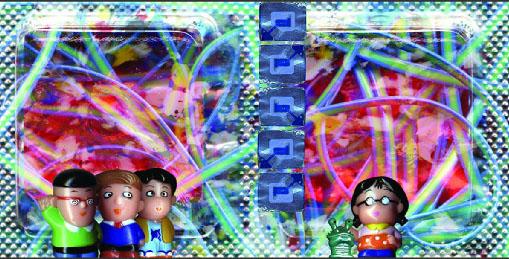 """From the Jolly Ranchers series. Digital Print / Plexiglas. 15"""" X 30""""2005. 1/5"""